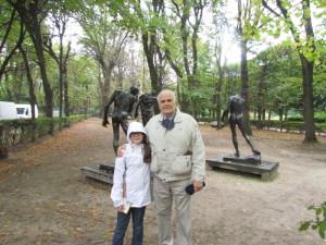 Outside the beautiful Musee Rodin